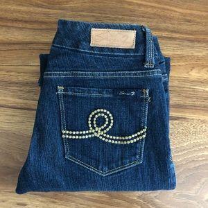 EUC Seven 7 Boot Cut Jeans Size 27